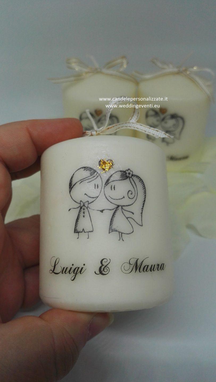candele personalizzate per matrimonio